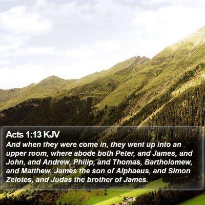 Acts 1:13 KJV Bible Verse Image