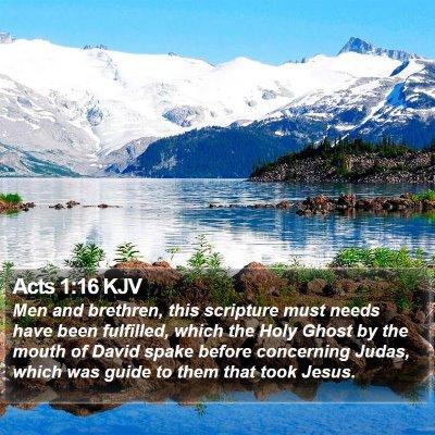 Acts 1:16 KJV Bible Verse Image
