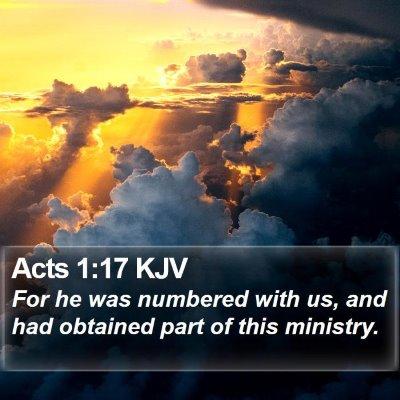Acts 1:17 KJV Bible Verse Image