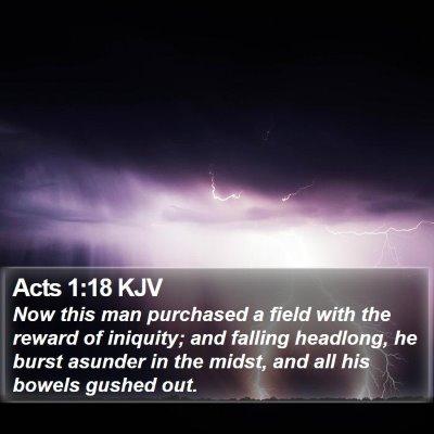 Acts 1:18 KJV Bible Verse Image