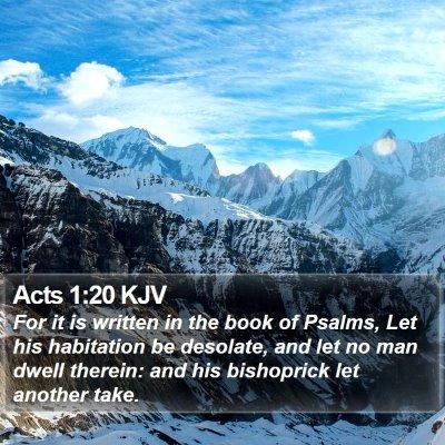 Acts 1:20 KJV Bible Verse Image
