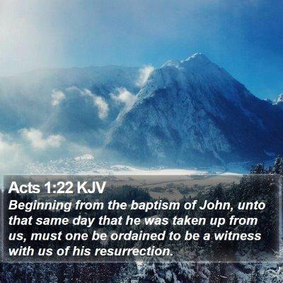 Acts 1:22 KJV Bible Verse Image