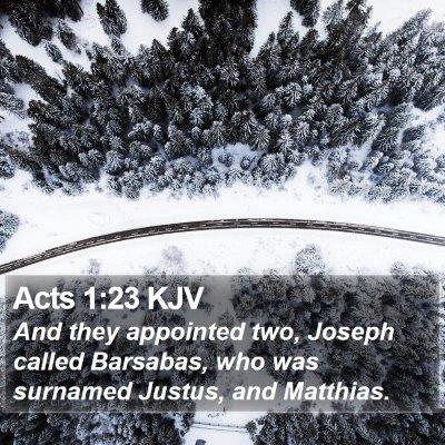 Acts 1:23 KJV Bible Verse Image