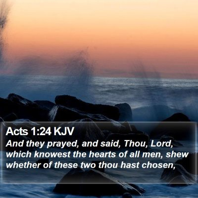 Acts 1:24 KJV Bible Verse Image