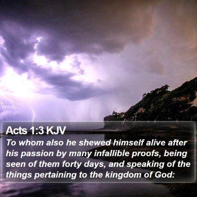 Acts 1:3 KJV Bible Verse Image