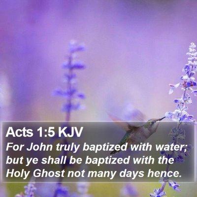 Acts 1:5 KJV Bible Verse Image