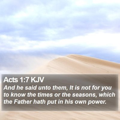 Acts 1:7 KJV Bible Verse Image