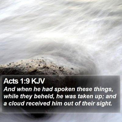 Acts 1:9 KJV Bible Verse Image