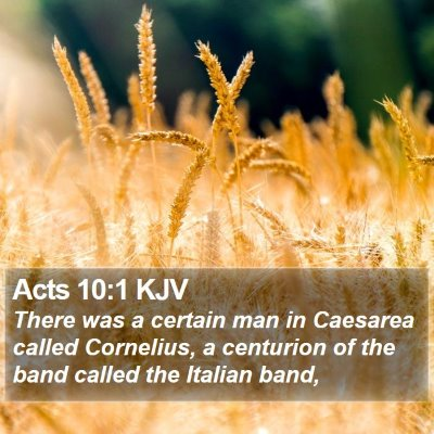 Acts 10:1 KJV Bible Verse Image
