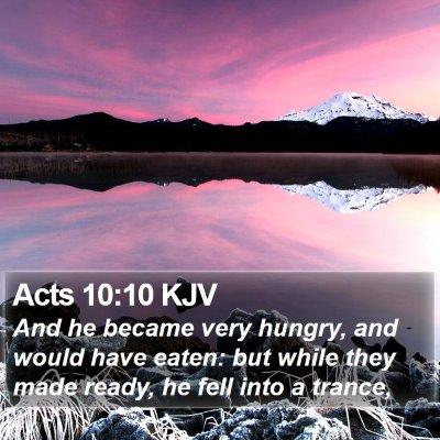 Acts 10:10 KJV Bible Verse Image