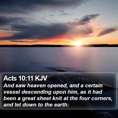 Acts 10:11 KJV Bible Verse Image
