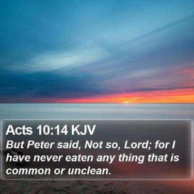 Acts 10:14 KJV Bible Verse Image