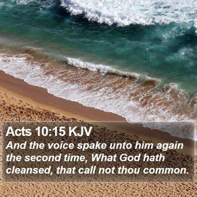 Acts 10:15 KJV Bible Verse Image