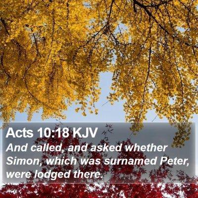 Acts 10:18 KJV Bible Verse Image