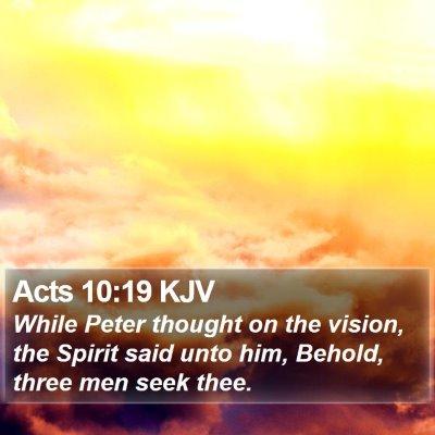 Acts 10:19 KJV Bible Verse Image