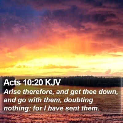 Acts 10:20 KJV Bible Verse Image