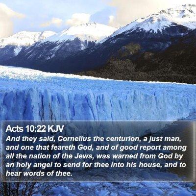 Acts 10:22 KJV Bible Verse Image