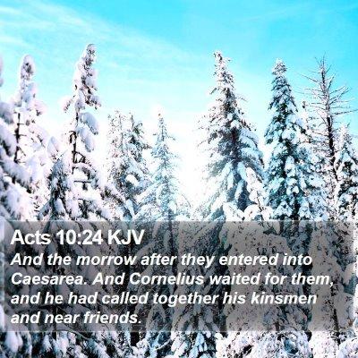 Acts 10:24 KJV Bible Verse Image