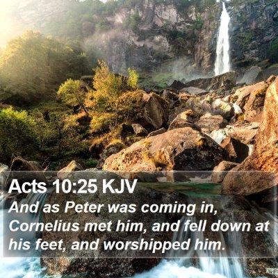 Acts 10:25 KJV Bible Verse Image