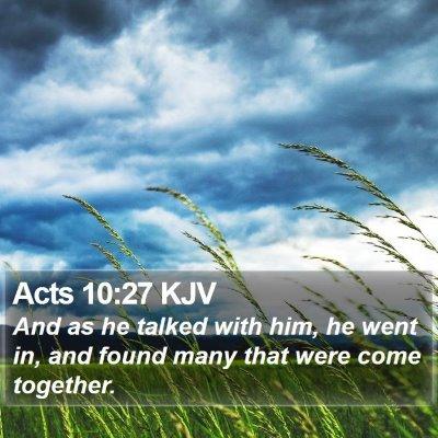 Acts 10:27 KJV Bible Verse Image