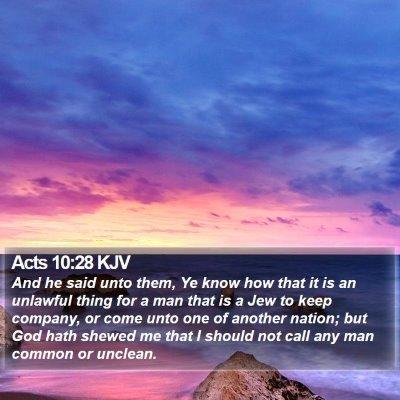 Acts 10:28 KJV Bible Verse Image