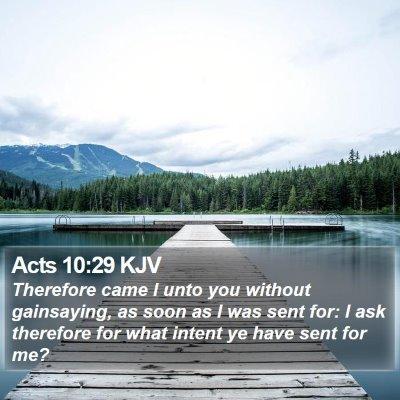 Acts 10:29 KJV Bible Verse Image