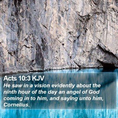 Acts 10:3 KJV Bible Verse Image