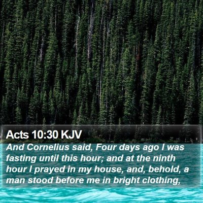 Acts 10:30 KJV Bible Verse Image