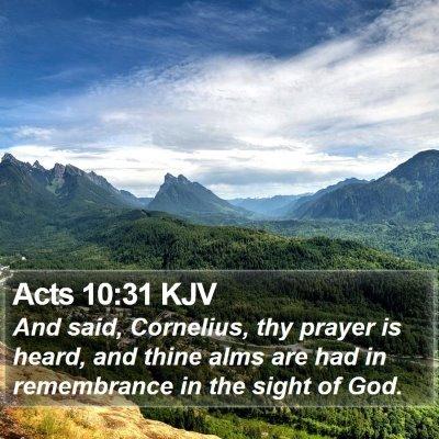 Acts 10:31 KJV Bible Verse Image