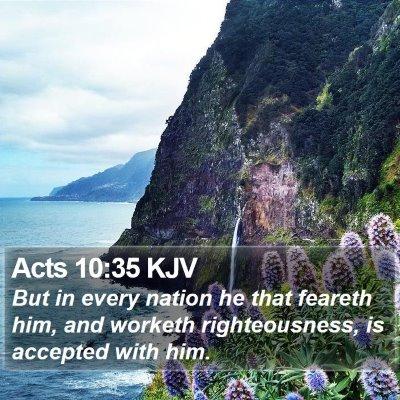 Acts 10:35 KJV Bible Verse Image