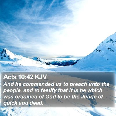 Acts 10:42 KJV Bible Verse Image