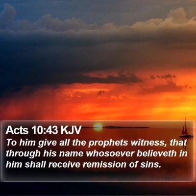 Acts 10:43 KJV Bible Verse Image