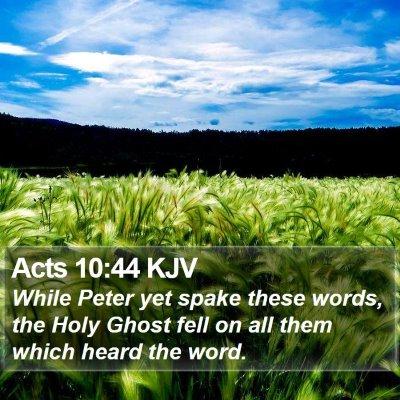Acts 10:44 KJV Bible Verse Image