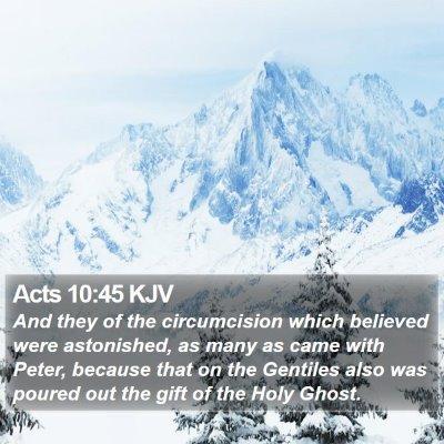 Acts 10:45 KJV Bible Verse Image