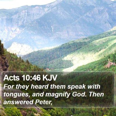 Acts 10:46 KJV Bible Verse Image