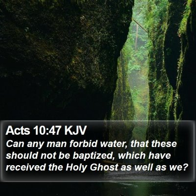 Acts 10:47 KJV Bible Verse Image