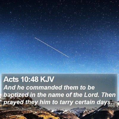 Acts 10:48 KJV Bible Verse Image
