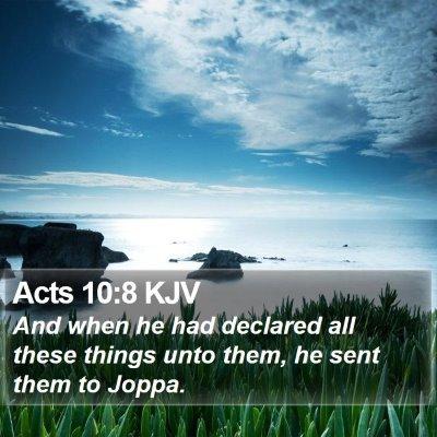 Acts 10:8 KJV Bible Verse Image