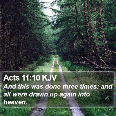 Acts 11:10 KJV Bible Verse Image