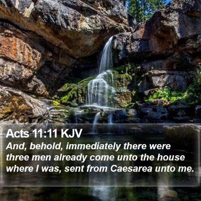 Acts 11:11 KJV Bible Verse Image