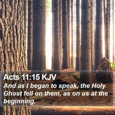 Acts 11:15 KJV Bible Verse Image