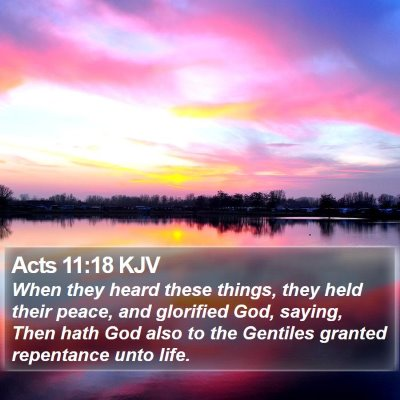 Acts 11:18 KJV Bible Verse Image