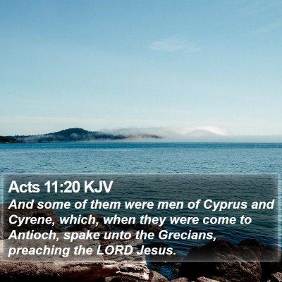 Acts 11:20 KJV Bible Verse Image