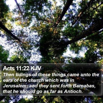 Acts 11:22 KJV Bible Verse Image