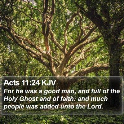 Acts 11:24 KJV Bible Verse Image