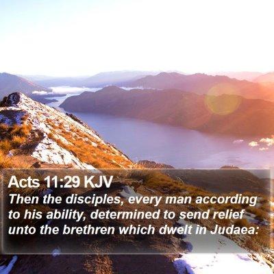 Acts 11:29 KJV Bible Verse Image