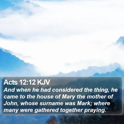 Acts 12:12 KJV Bible Verse Image