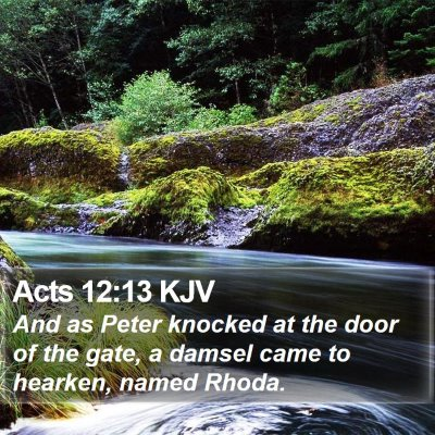 Acts 12:13 KJV Bible Verse Image