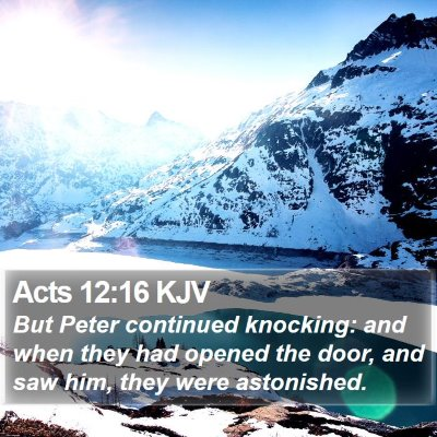 Acts 12:16 KJV Bible Verse Image
