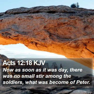 Acts 12:18 KJV Bible Verse Image